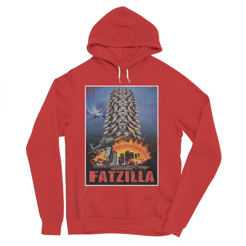 Fatzilla Men's Sponge Fleece Pullover Hoody by Fat Bike Asinine's Artist Shop