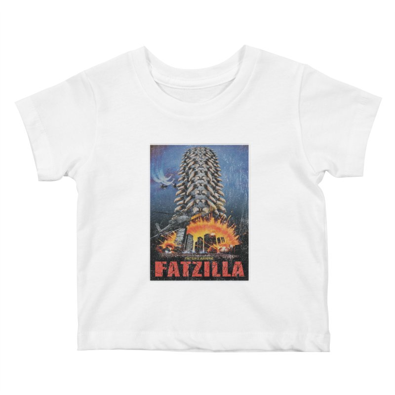 Fatzilla Kids Baby T-Shirt by Fat Bike Asinine's Artist Shop