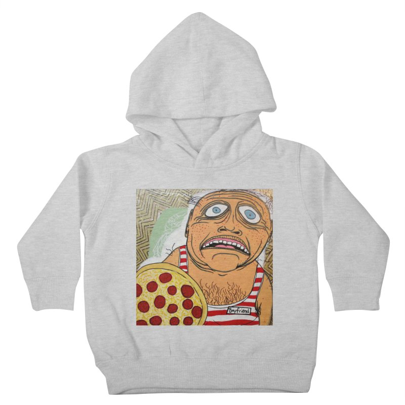 Pizza BF Kids Toddler Pullover Hoody by FattyRomance's Artist Shop