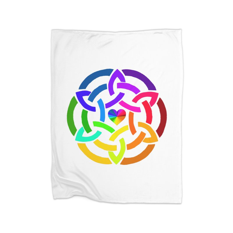 Rainbow Knot Home Blanket by Favorite Character's Shirt Artist Shop