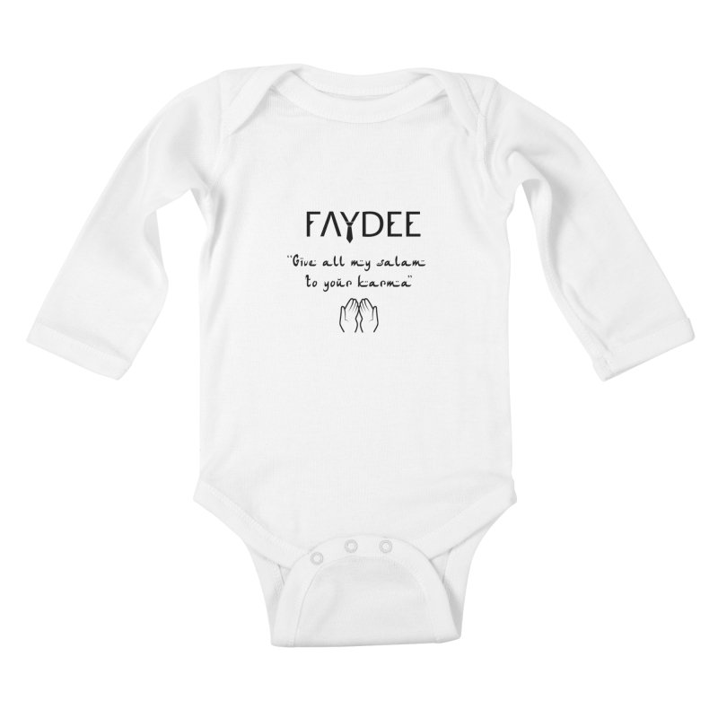 SALAM TO YOUR KARMA Kids Baby Longsleeve Bodysuit by Faydee Official Merch