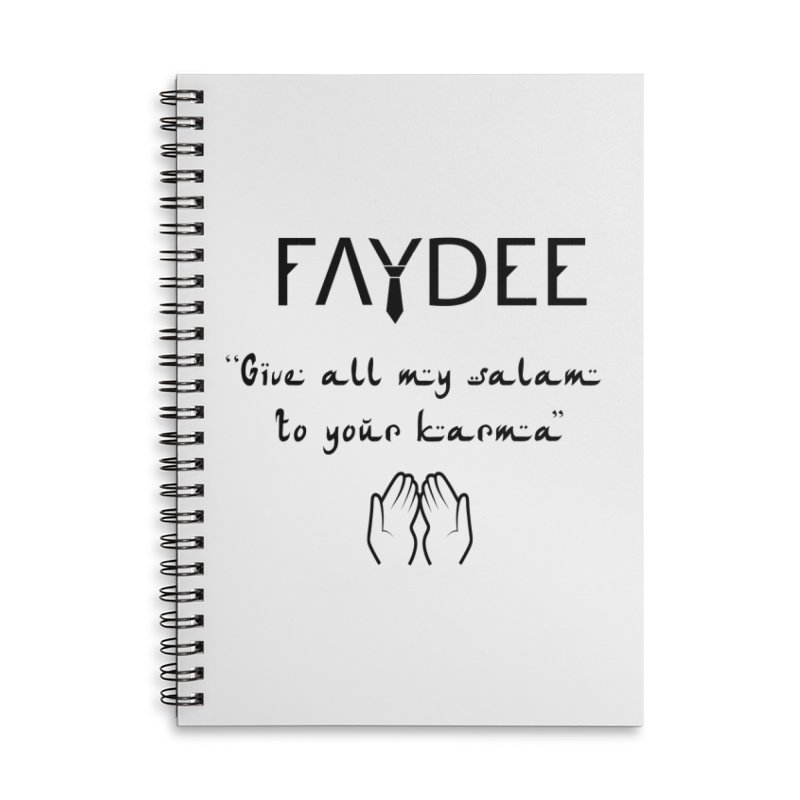 SALAM TO YOUR KARMA Accessories Notebook by Faydee Official Merch
