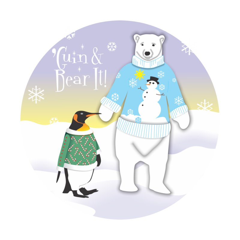'Guin & Bear It! Women's Racerback Tank by FayeKleinDesign's Artist Shop