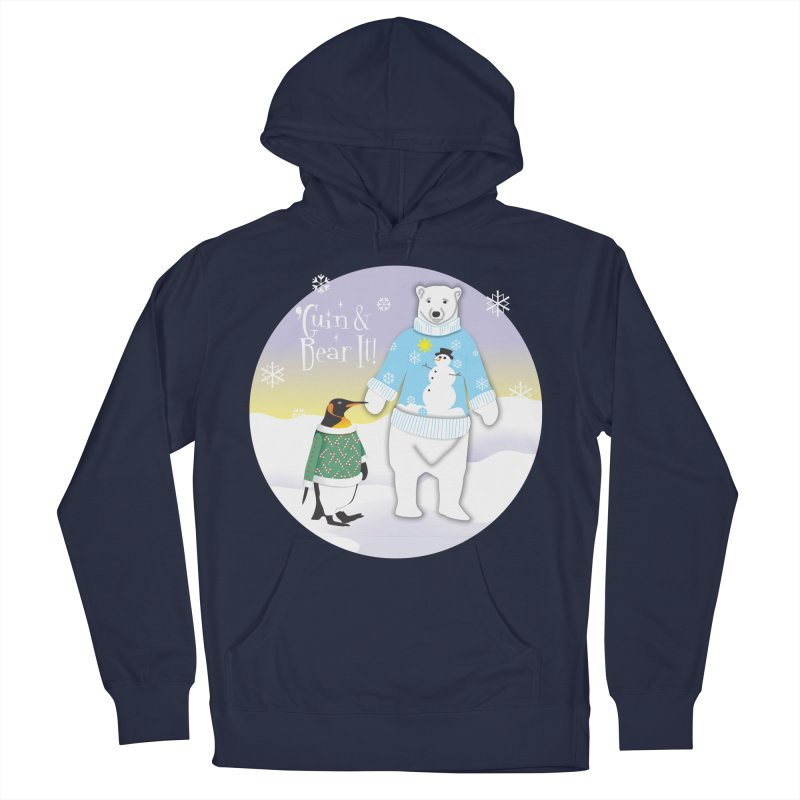 'Guin & Bear It! Men's French Terry Pullover Hoody by FayeKleinDesign's Artist Shop