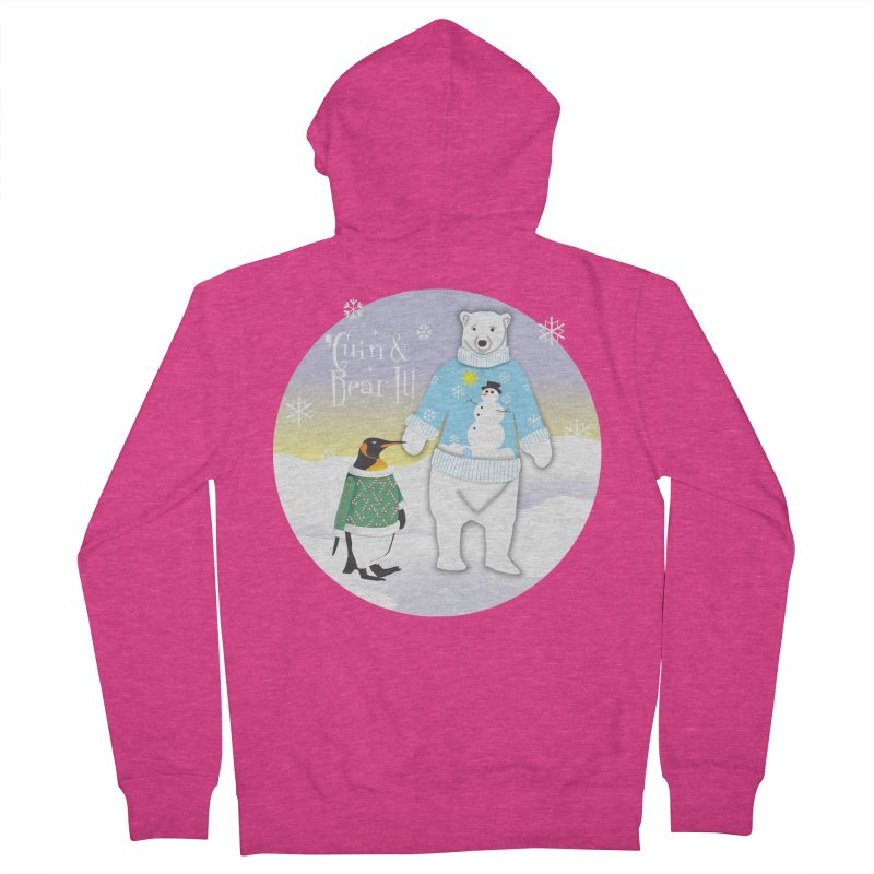 'Guin & Bear It! Women's French Terry Zip-Up Hoody by FayeKleinDesign's Artist Shop