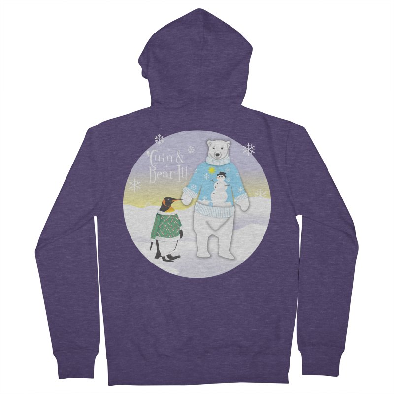 'Guin & Bear It! Men's French Terry Zip-Up Hoody by FayeKleinDesign's Artist Shop