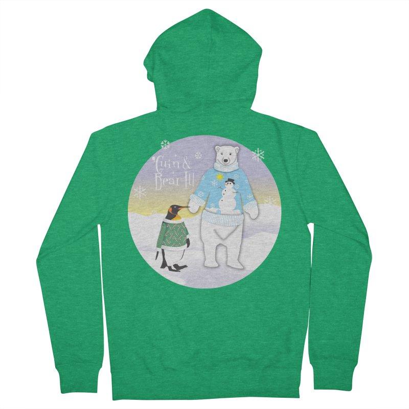 'Guin & Bear It! Men's Zip-Up Hoody by FayeKleinDesign's Artist Shop
