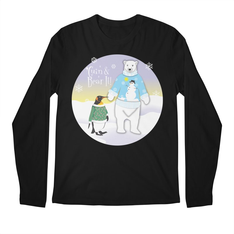 'Guin & Bear It! Men's Regular Longsleeve T-Shirt by FayeKleinDesign's Artist Shop