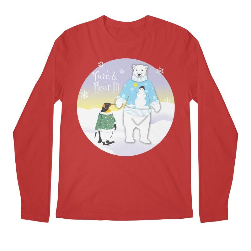 'Guin & Bear It! Men's Regular Longsleeve T-Shirt by FayeKleinDesign's Artist Shop