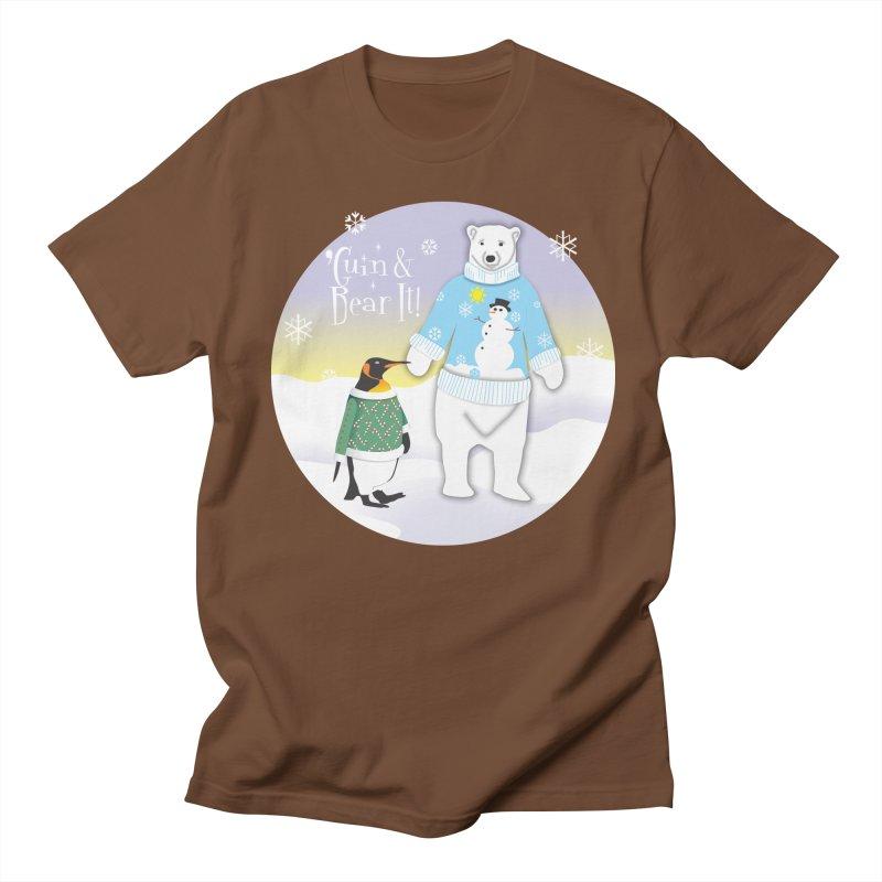 'Guin & Bear It! Men's Regular T-Shirt by FayeKleinDesign's Artist Shop