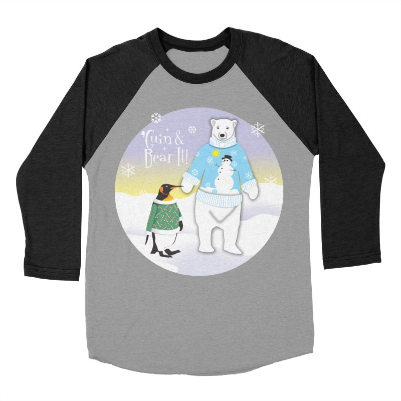 'Guin & Bear It! Men's Baseball Triblend Longsleeve T-Shirt by FayeKleinDesign's Artist Shop