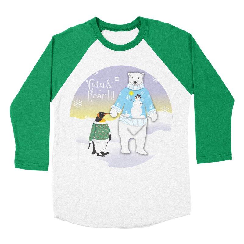 'Guin & Bear It! Men's Baseball Triblend Longsleeve T-Shirt by FayeKleinDesign's Artist Shop