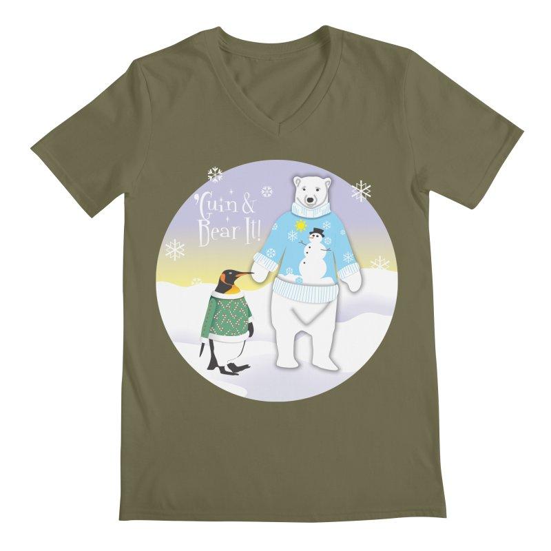 'Guin & Bear It! Men's V-Neck by FayeKleinDesign's Artist Shop