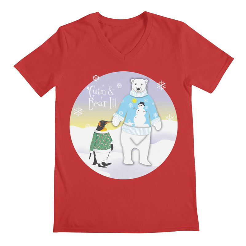 'Guin & Bear It! Men's V-Neck by FayeKleinDesign's Artist Shop