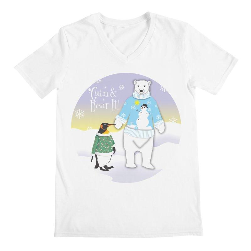 'Guin & Bear It! Men's Regular V-Neck by FayeKleinDesign's Artist Shop