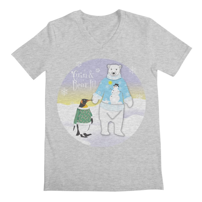 'Guin & Bear It! Men's Regular V-Neck by FayeKleinDesign's Artist Shop