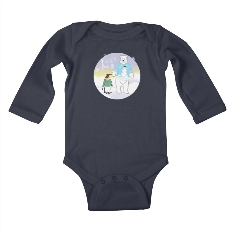 'Guin & Bear It! Kids Baby Longsleeve Bodysuit by FayeKleinDesign's Artist Shop