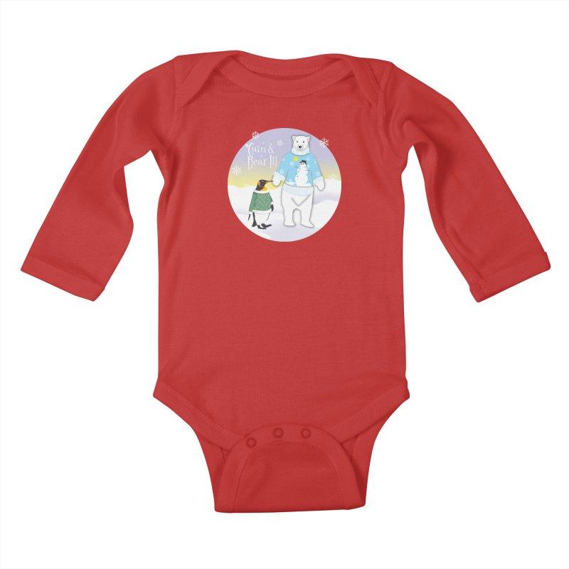 'Guin & Bear It! Kids Baby Longsleeve Bodysuit by FayeKleinDesign's Artist Shop