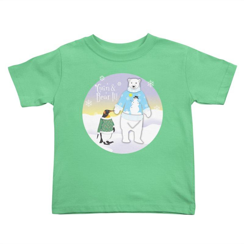 'Guin & Bear It! Kids Toddler T-Shirt by FayeKleinDesign's Artist Shop