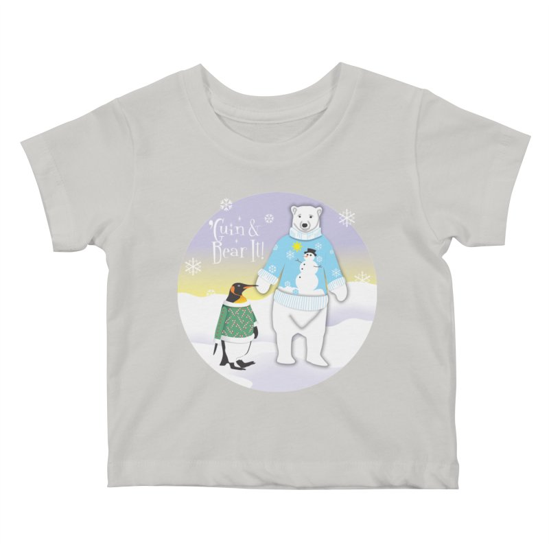 'Guin & Bear It! Kids Baby T-Shirt by FayeKleinDesign's Artist Shop