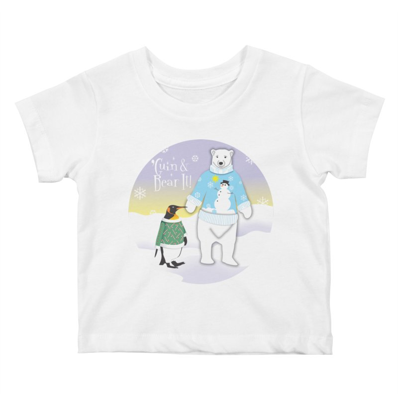 'Guin & Bear It! Kids Baby T-Shirt by FayeKleinDesign's Artist Shop