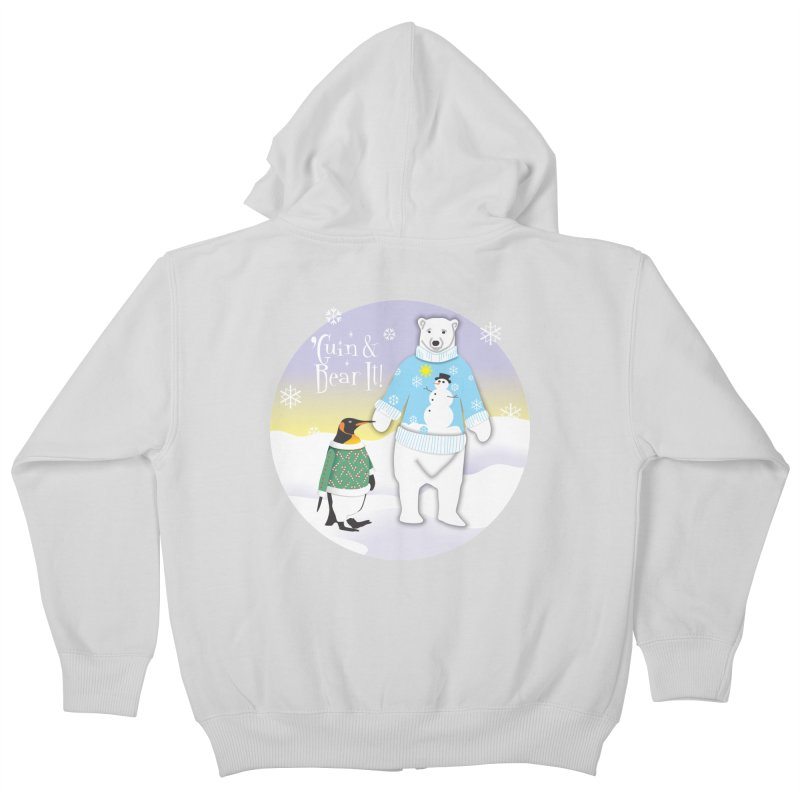 'Guin & Bear It! Kids Zip-Up Hoody by FayeKleinDesign's Artist Shop