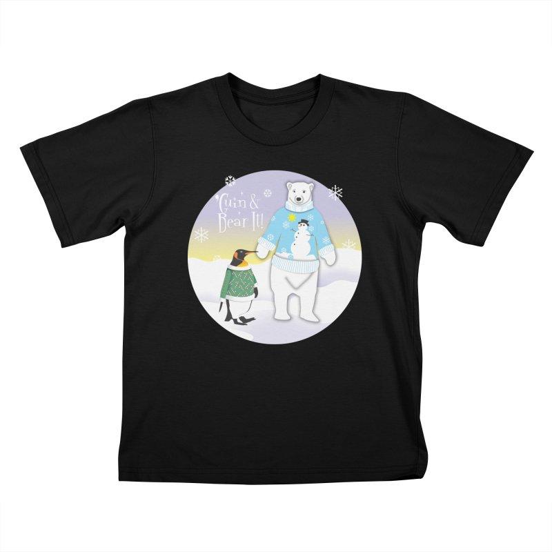 'Guin & Bear It! Kids T-Shirt by FayeKleinDesign's Artist Shop