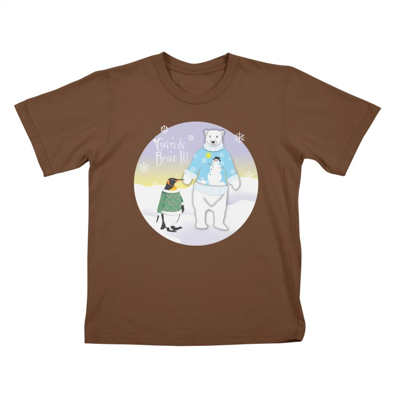 'Guin & Bear It! Kids T-Shirt by FayeKleinDesign's Artist Shop