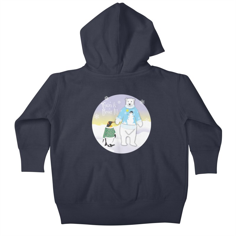 'Guin & Bear It! Kids Baby Zip-Up Hoody by FayeKleinDesign's Artist Shop