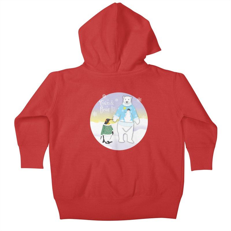 'Guin & Bear It! Kids Baby Zip-Up Hoody by FayeKleinDesign's Artist Shop