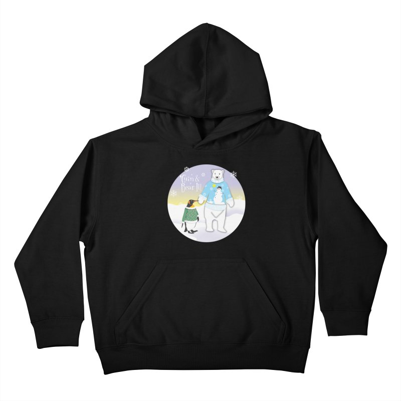 'Guin & Bear It! Kids Pullover Hoody by FayeKleinDesign's Artist Shop