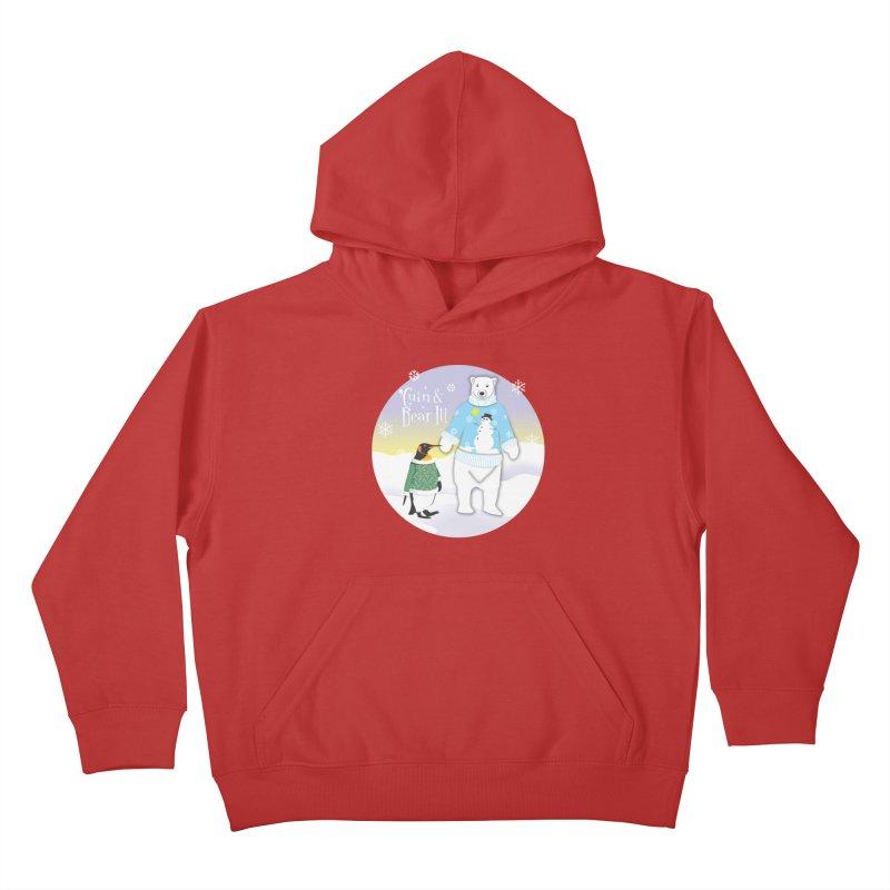 'Guin & Bear It! Kids Pullover Hoody by FayeKleinDesign's Artist Shop