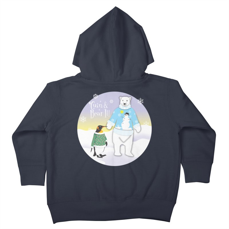 'Guin & Bear It! Kids Toddler Zip-Up Hoody by FayeKleinDesign's Artist Shop