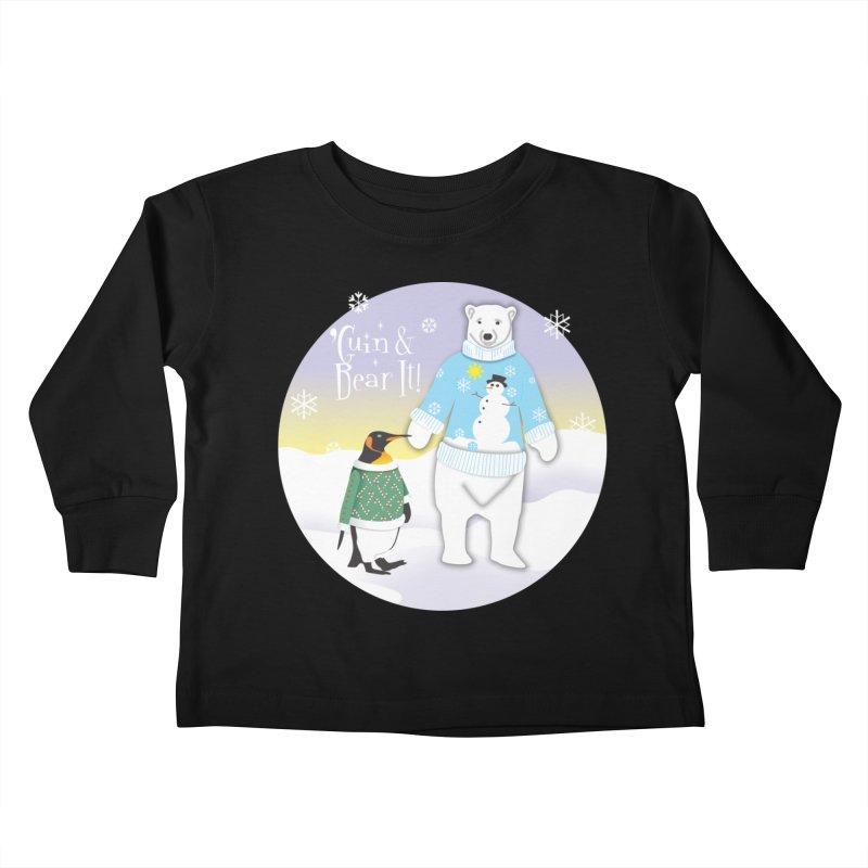 'Guin & Bear It! Kids Toddler Longsleeve T-Shirt by FayeKleinDesign's Artist Shop