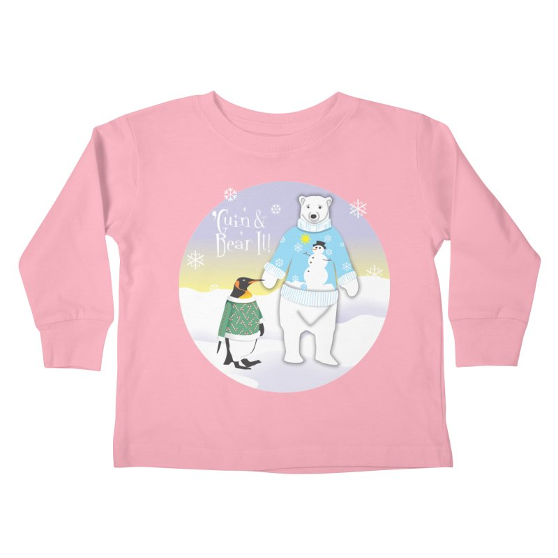 'Guin & Bear It! Kids Toddler Longsleeve T-Shirt by FayeKleinDesign's Artist Shop