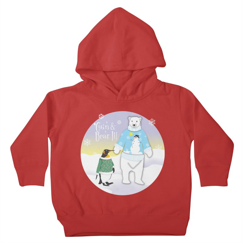 'Guin & Bear It! Kids Toddler Pullover Hoody by FayeKleinDesign's Artist Shop