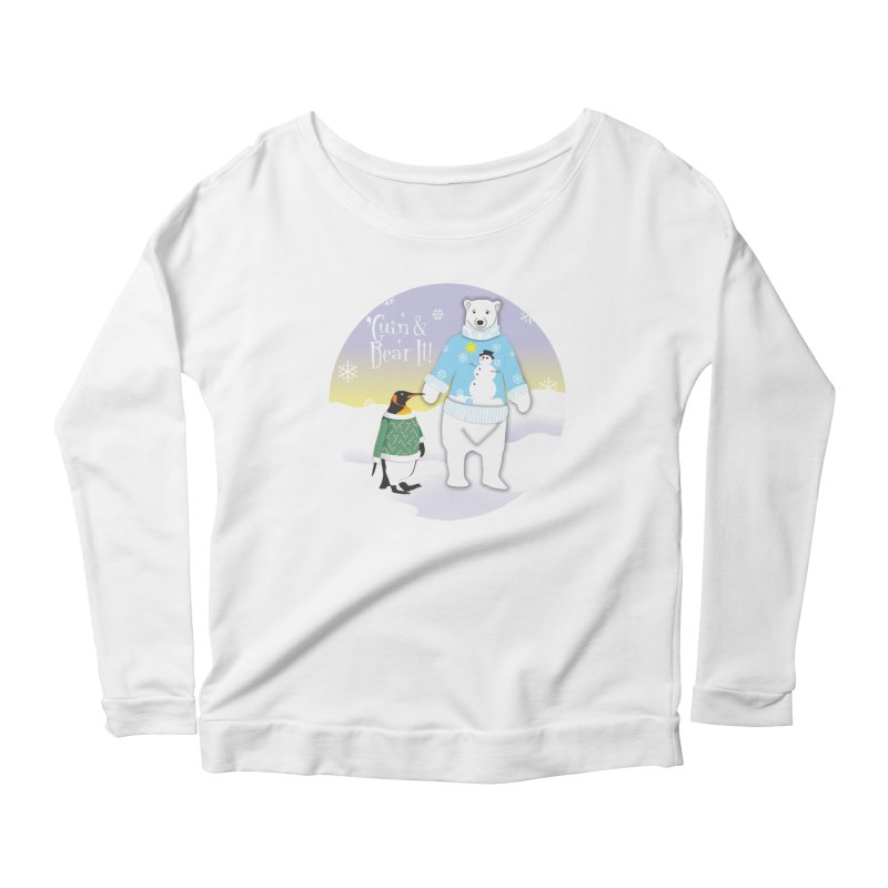 'Guin & Bear It! Women's Scoop Neck Longsleeve T-Shirt by FayeKleinDesign's Artist Shop