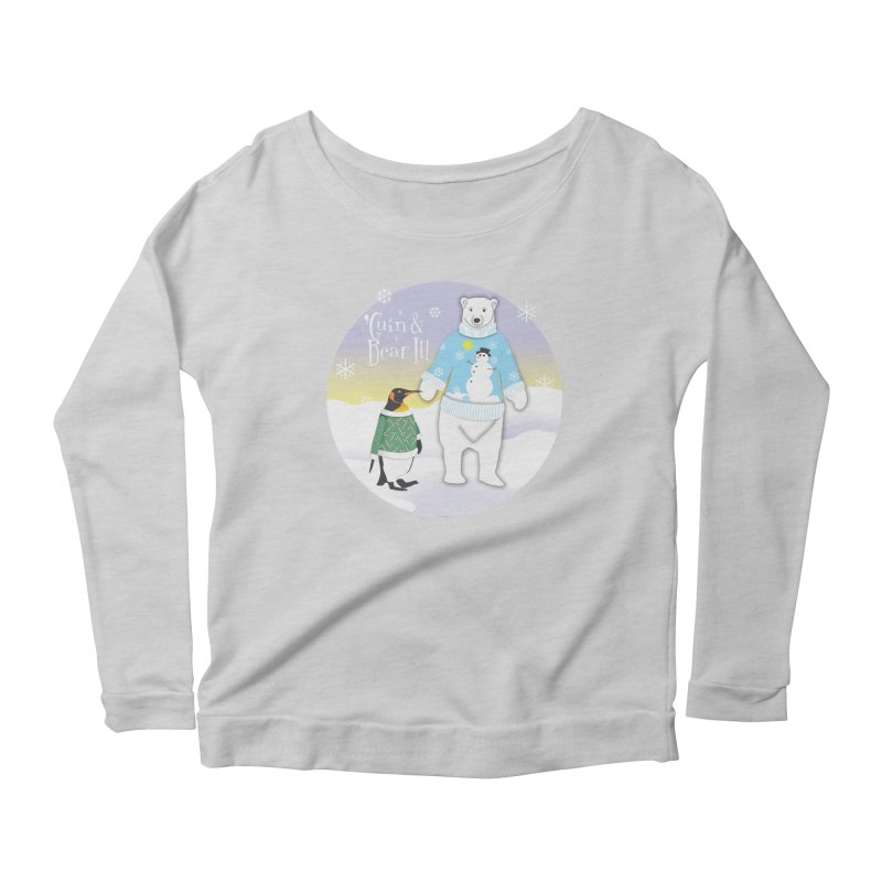 'Guin & Bear It! Women's Scoop Neck Longsleeve T-Shirt by FayeKleinDesign's Artist Shop