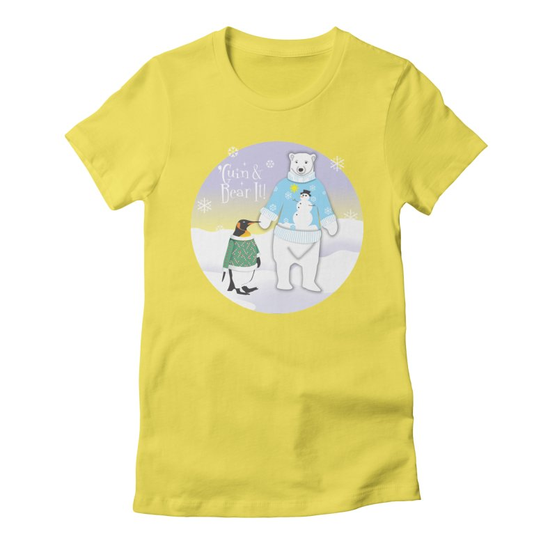 'Guin & Bear It! Women's Fitted T-Shirt by FayeKleinDesign's Artist Shop
