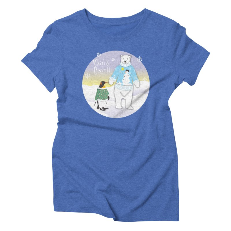 'Guin & Bear It! Women's Triblend T-Shirt by FayeKleinDesign's Artist Shop