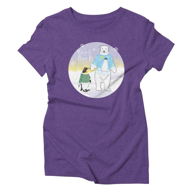 'Guin & Bear It! Women's Triblend T-Shirt by FayeKleinDesign's Artist Shop