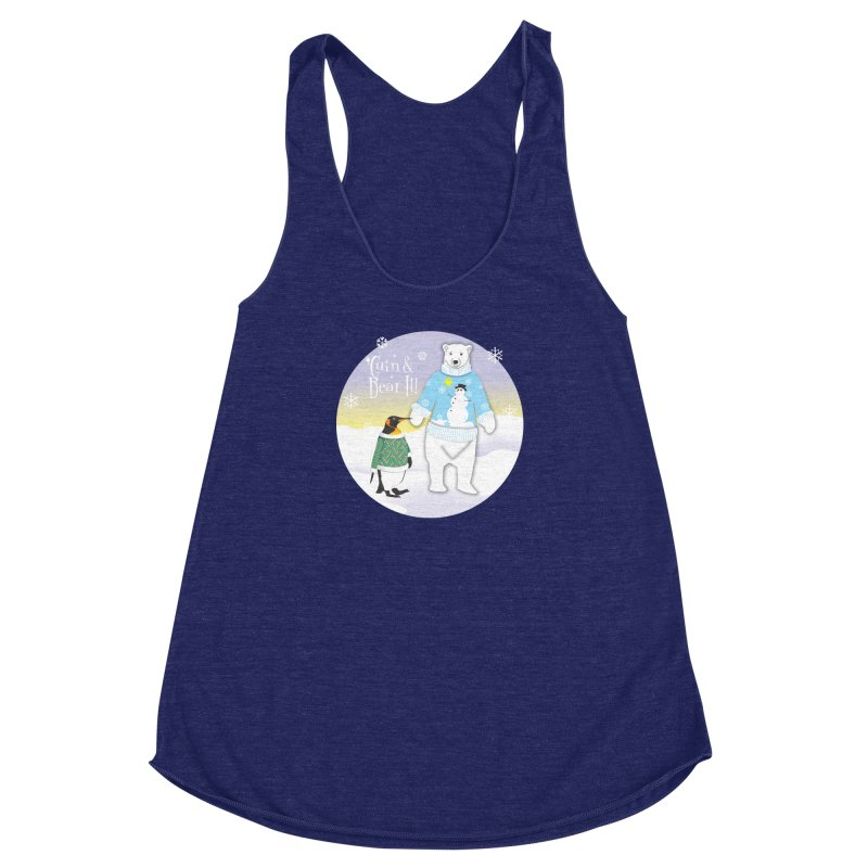 'Guin & Bear It! Women's Racerback Triblend Tank by FayeKleinDesign's Artist Shop