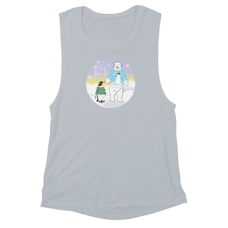 'Guin & Bear It! Women's Muscle Tank by FayeKleinDesign's Artist Shop