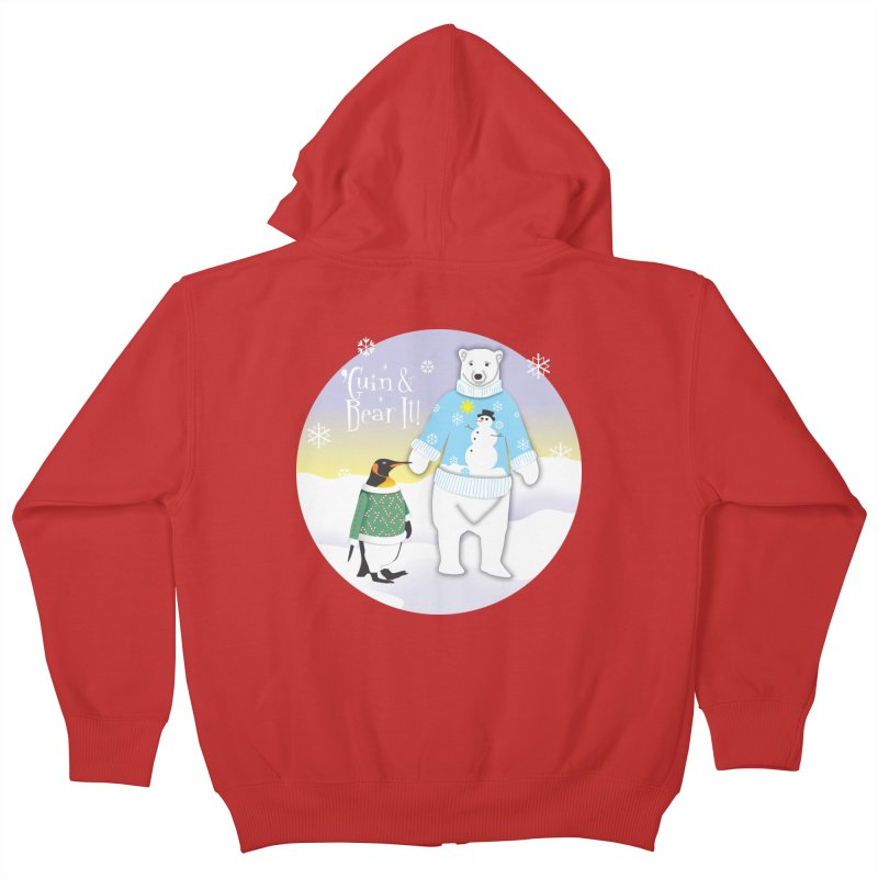 'Guin & Bear It! Kids Zip-Up Hoody by FayeKleinDesign's Artist Shop