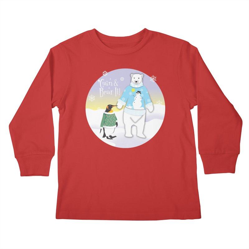 'Guin & Bear It! Kids Longsleeve T-Shirt by FayeKleinDesign's Artist Shop
