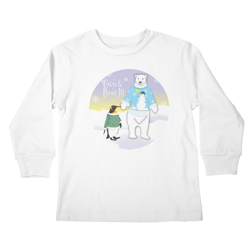 'Guin & Bear It! Kids Longsleeve T-Shirt by FayeKleinDesign's Artist Shop