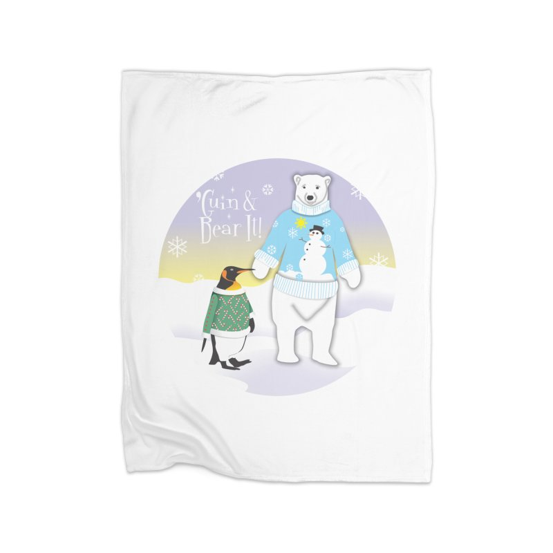'Guin & Bear It! Home Blanket by FayeKleinDesign's Artist Shop