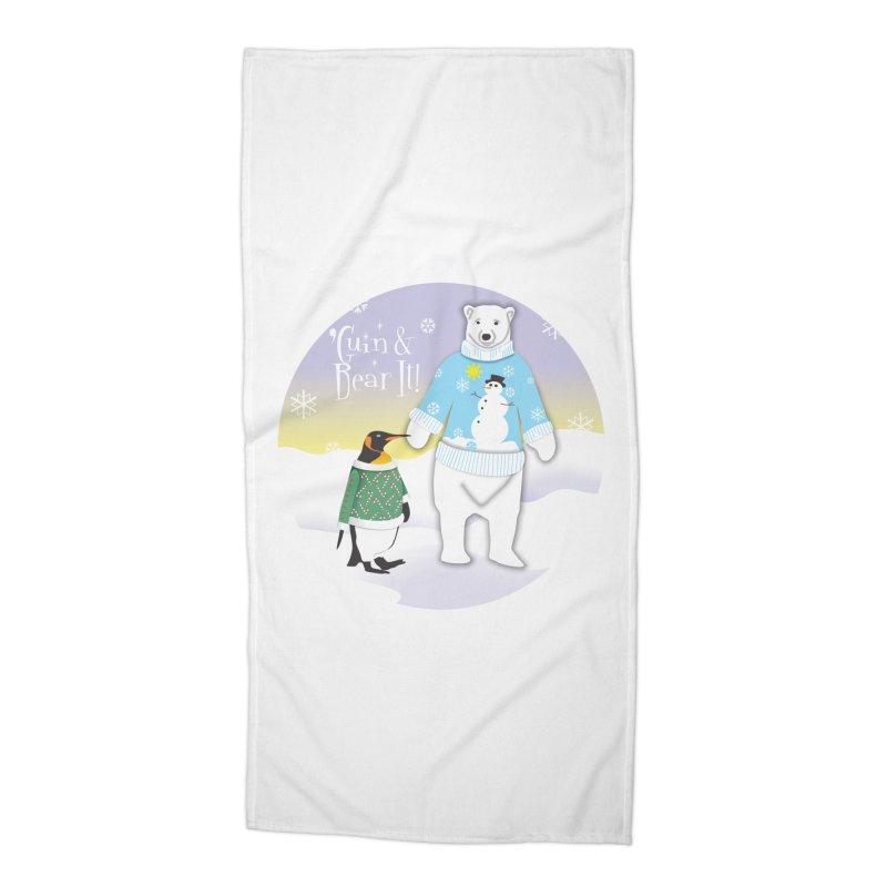 'Guin & Bear It! Accessories Beach Towel by FayeKleinDesign's Artist Shop