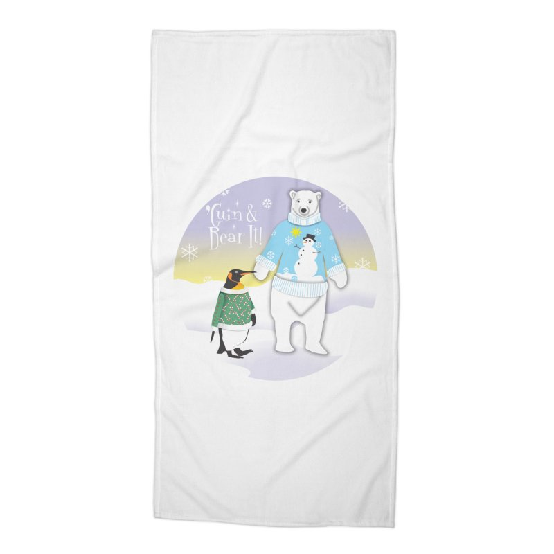 'Guin & Bear It! Accessories Beach Towel by FayeKleinDesign's Artist Shop