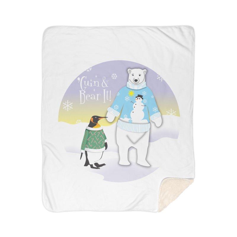 'Guin & Bear It! Home Sherpa Blanket Blanket by FayeKleinDesign's Artist Shop